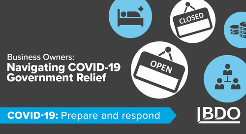 Business owners: navigating COVID-19 government relief