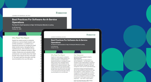 Forrester Research Publishes Best Practices Report on SaaS Operations