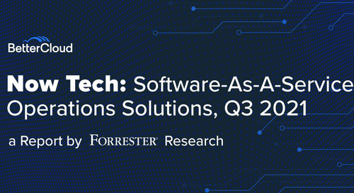 Forrester Publishes Report on the SaaS Operations Solution Provider Market for Q3 2021