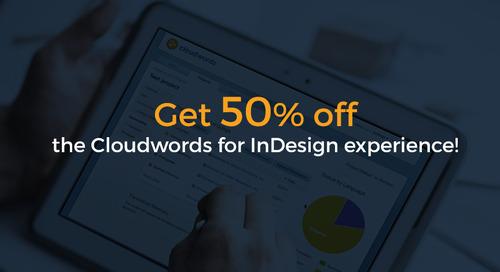 Cloudwords for Adobe InDesign Offer