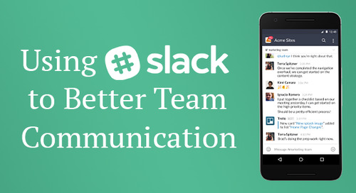 Using Slack to Better Team Communication