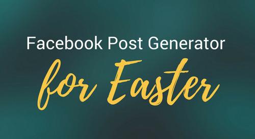 Facebook Post Generator for Easter