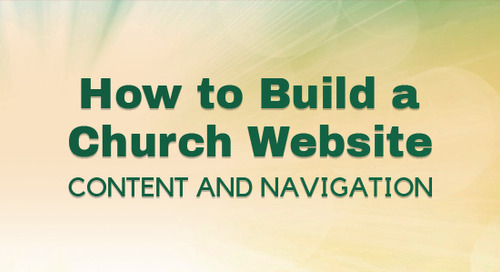 How to Build a Church Website:Content and Navigation