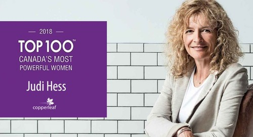 Copperleaf CEO Judi Hess Named One of Canada's Most Powerful Women by WXN 2018