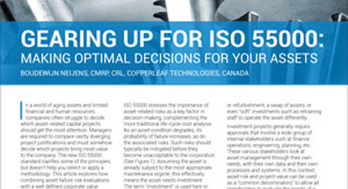 Feature Article: Gearing Up For ISO 55000: Making Optimal Decisions For Your Assets