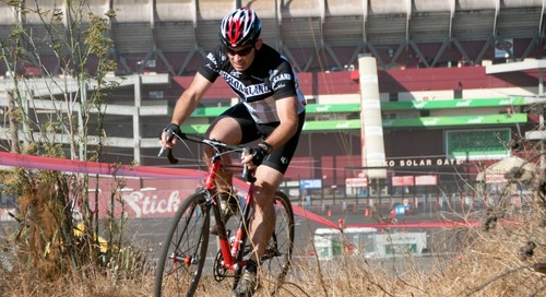 Comment on Racing in front of the famous NFL stadium at Candlestick Park. ©Cyclocross Magazine by scarpa bassa w air vapormax plus white whi
