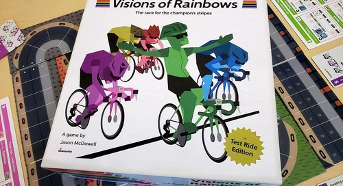 Race Your Own Spring Classic with 'Visions of Rainbows' Board Game