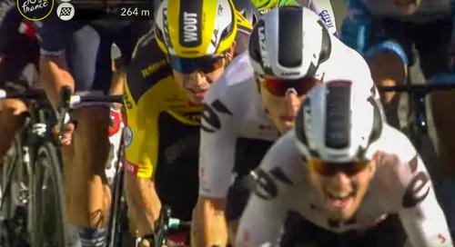 Video: Van Aert's Stage 5 Sprint at the 2020 Tour de France