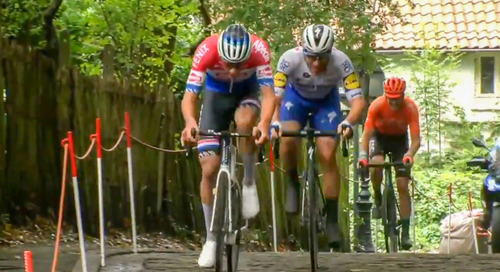 Watch: Mathieu van der Poel Conquers the Cobbles to Claim BinckBank Tour Victory