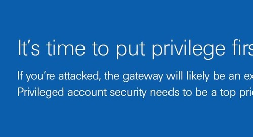 Get Cyber Security Right in 2017: Prioritize Privilege