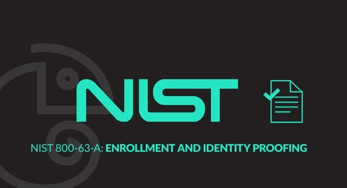 NIST 800-63-A: Enrollment and Identity Proofing