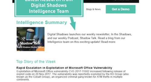 "Digital Shadows Launches Weekly Newsletter: ""In the Shadows"""