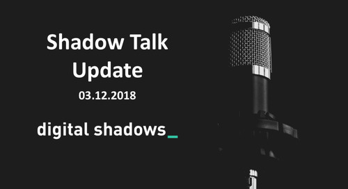 Shadow Talk Update – 03.12.2018