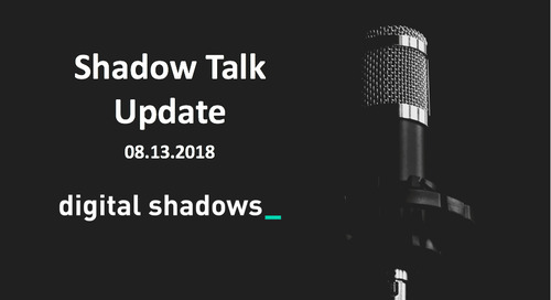 ShadowTalk Update – 08.13.2018