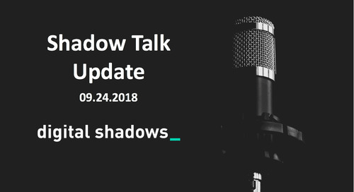 ShadowTalk Update – 09.24.2018