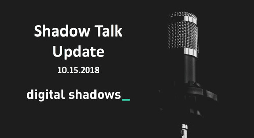 ShadowTalk Update – 10.15.2018