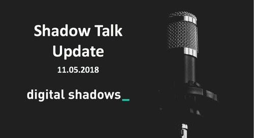 ShadowTalk Update – 11.05.2018
