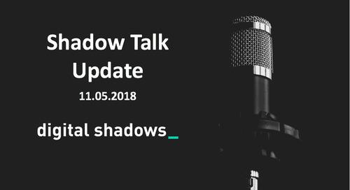 ShadowTalk Update – 11.05.2018