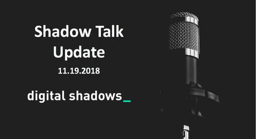 ShadowTalk Update – 11.19.2018