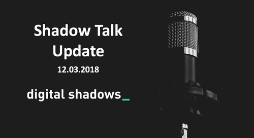 ShadowTalk Update – 12.03.2018