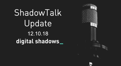 ShadowTalk Update – 12.10.2018