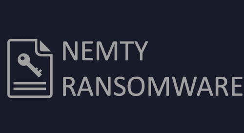 Nemty Ransomware: Slow and Steady Wins the Race?