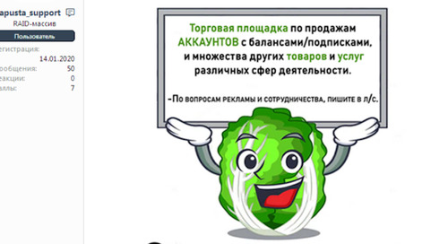Kapusta.World: The fiendish cabbage exemplifying cybercriminal marketing in the modern era