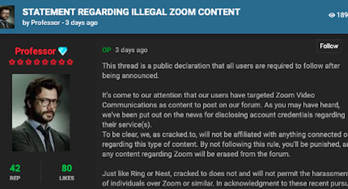 Zoom Security and Privacy Issues: Week in Review