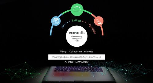 EcoVadis unterstützt nachhaltigen Wandel mit der neuen erweiterten Sustainability Intelligence Suite