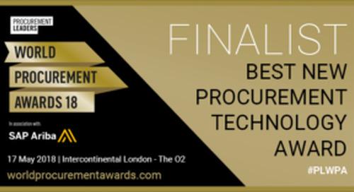 EcoVadis Named Finalist for Procurement Leaders World Procurement Awards