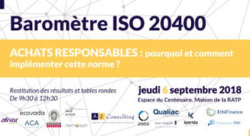 Baromètre ISO 20400, pourquoi et comment implémenter la norme?