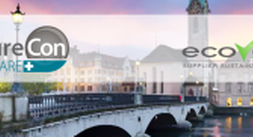 EcoVadis is hosting a Round Table on Sustainability / CSR at ProcureCon Healthcare / Pharma in Zurich