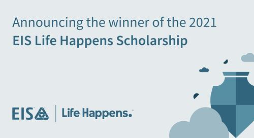 EIS Announces 2021 Winner of the EIS Life Lessons Scholarship
