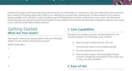 Asking the Right Questions: Choosing a PCB Design System Checklist