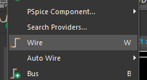 PSpice Walk-through 3: Wiring and Net Aliases
