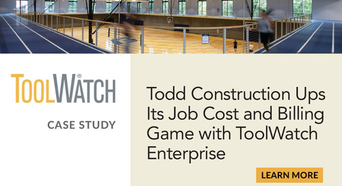 Todd Construction Ups Its Job Cost and Billing Game with ToolWatch Enterprise