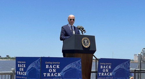 Biden Highlights Deficient Calcasieu River Bridge in Infrastructure Pitch