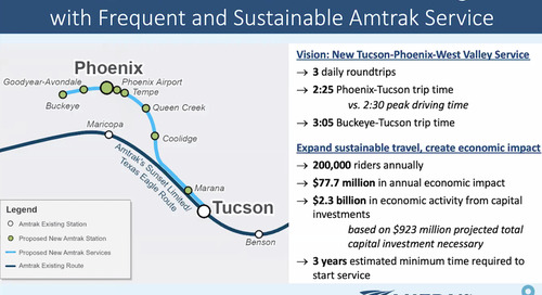 Amtrak Unveils Plan to Connect Phoenix and Tucson