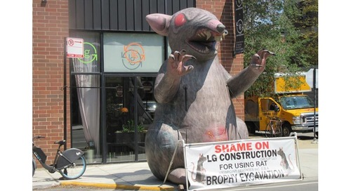 NLRB Says Scabby the Rat, Other Inflatables, Can Remain at Secondary Boycott Protest Sites
