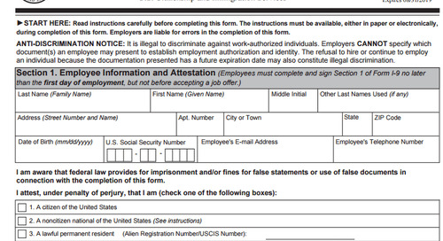 Employer Reminder: Use New I-9 Form Starting Jan. 22