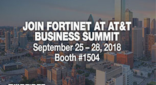 Fortinet is a Premiere Sponsor at the 2018 AT&T Business Summit