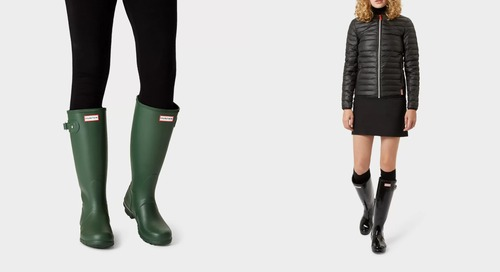 """There's a jaw-dropping one-day sale on Hunter rain boots right now""""while they last"""