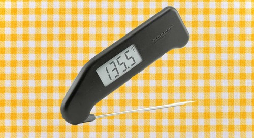 """This classic meat thermometer can read temperatures in 3 seconds""""and it's on sale"""