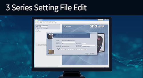 3SP-1018 - 3 Series setting file edit