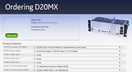 D20-1023 - D20 Ordering D20MX