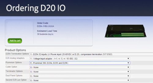 D20-1024 - D20 Ordering D20 IO