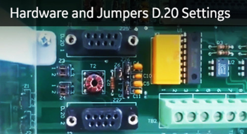 D20-1025 - D20 Hardware and Jumpers D.20 Settings