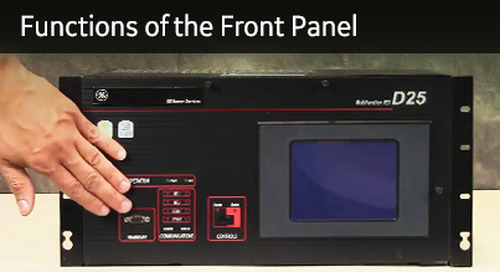 D25-1010 - D25 How2 - Understanding the functions of the front panel
