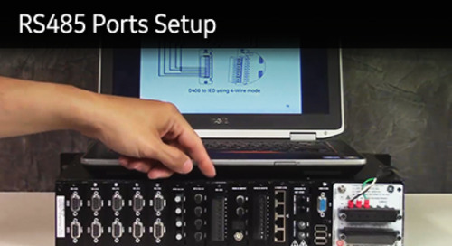 D400-1005 - D400 How2 - RS485 ports setup