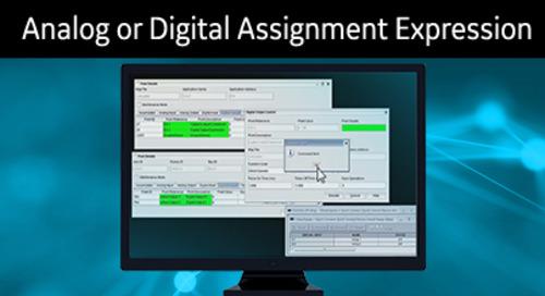 D400-1013 - D400 Configuration How2 - Create an Analog or Digital assignment expression